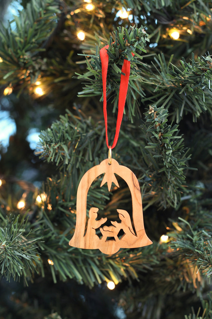Holy Family in Bell Ornament
