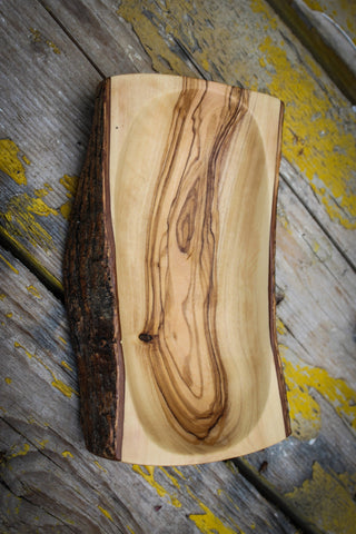Natural Bark Bowl - Rectangular