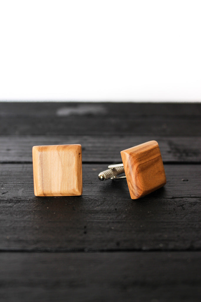 Cuff Links - Square with Beveled Edge