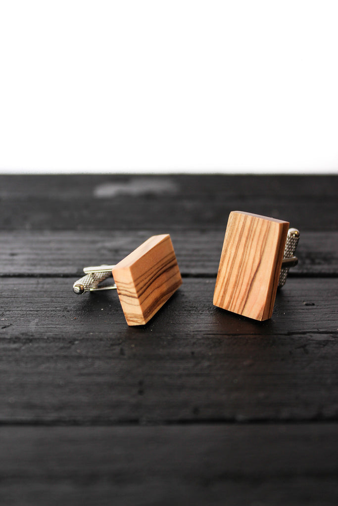 Cuff Links - Rectangle with Straight Edge