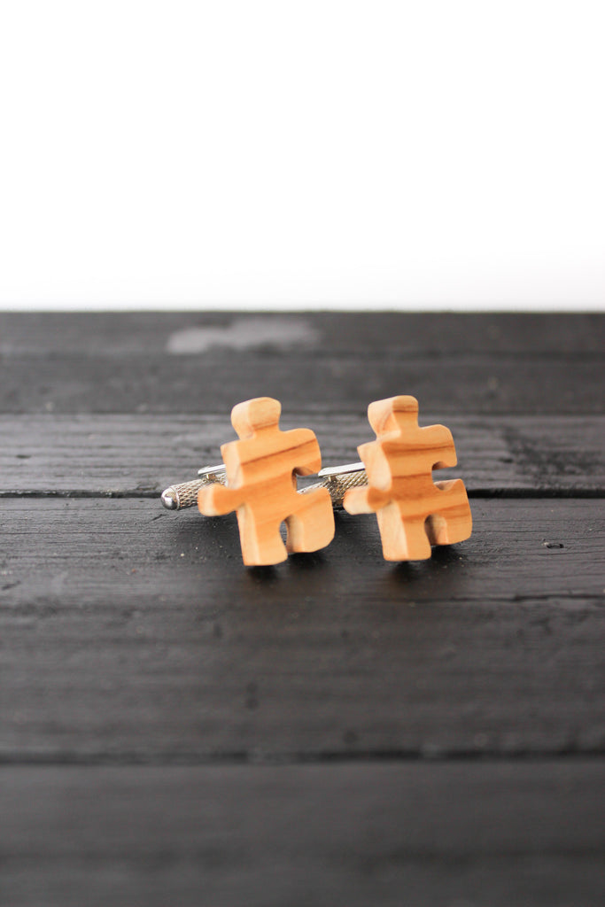Cuff Links - Puzzle Piece