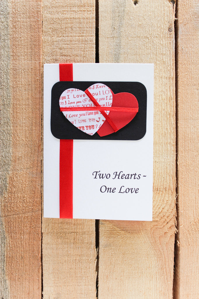 Two Hearts-One Love Card