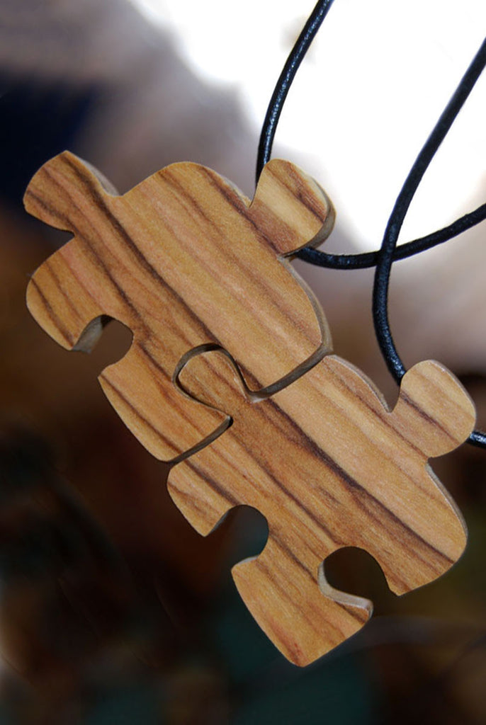Two Friends Puzzle Piece Friendship Necklaces