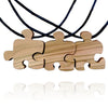 Three Friends Puzzle Piece Friendship Necklaces