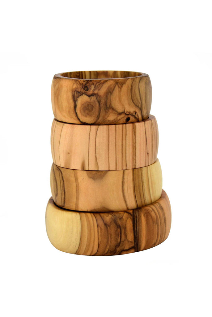 Wide Olive Wood Bangle Bracelet