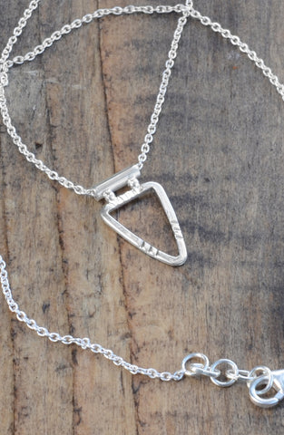 Arrowhead Triangle - Sterling Silver Necklace