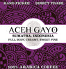 Aceh Gayo Whole Bean Coffee