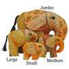 Gold Silk Patchwork Jumbo Elephant