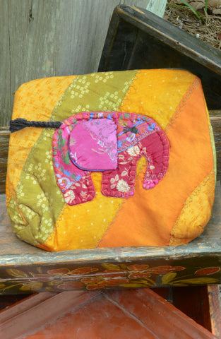 Gold Large Elephant Pouch