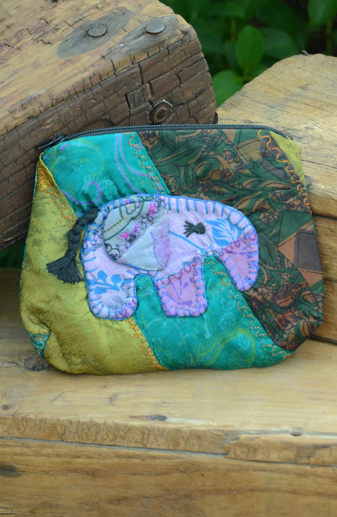 Green Small Elephant Pouch