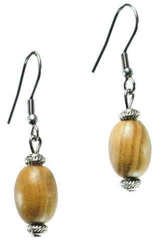Essential Oval Olive Wood Earrings