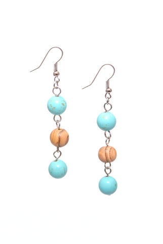 Mediterranean Breeze Dangle Earrings