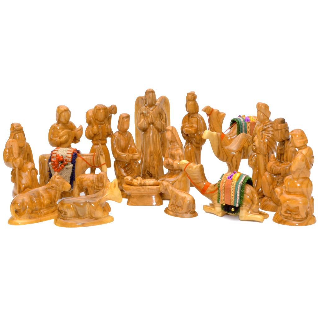 Twenty Piece Olivewood Nativity Scene