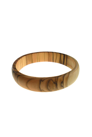 Thin Olive Wood Bangle Bracelet