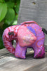 Purple Silk Patchwork Small Elephant