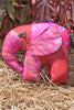 Pink Silk Patchwork Medium Elephant