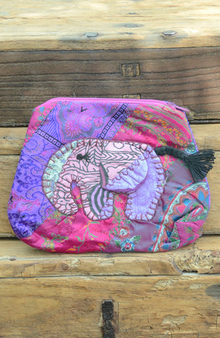 Pink Small Elephant Pouch