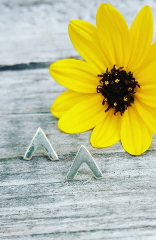 Pointing Up - Sterling Silver Earrings