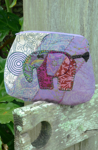 Purple Large Elephant Pouch