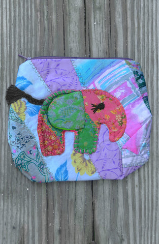 Purple Medium Elephant Pouch