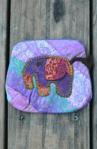 Purple Small Elephant Pouch