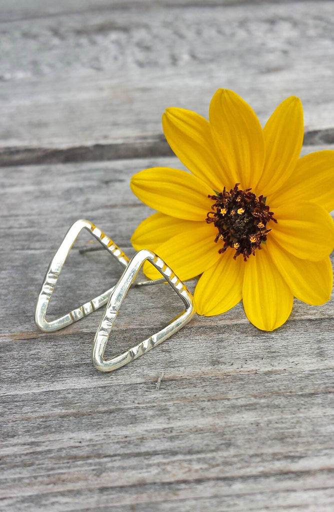 Arrowhead Triangle - Sterling Silver Earrings