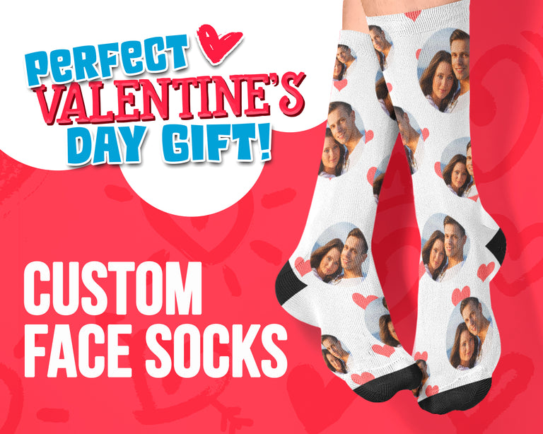 Custom Face Valentine's Day Edition Socks
