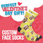 Custom Face Valentine Edition Socks