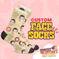 Custom Face Valentine Socks - Donut