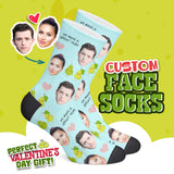 Custom Face Valentine Edition Socks - Pear