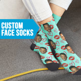 Custom Face Valentine Kiss Socks