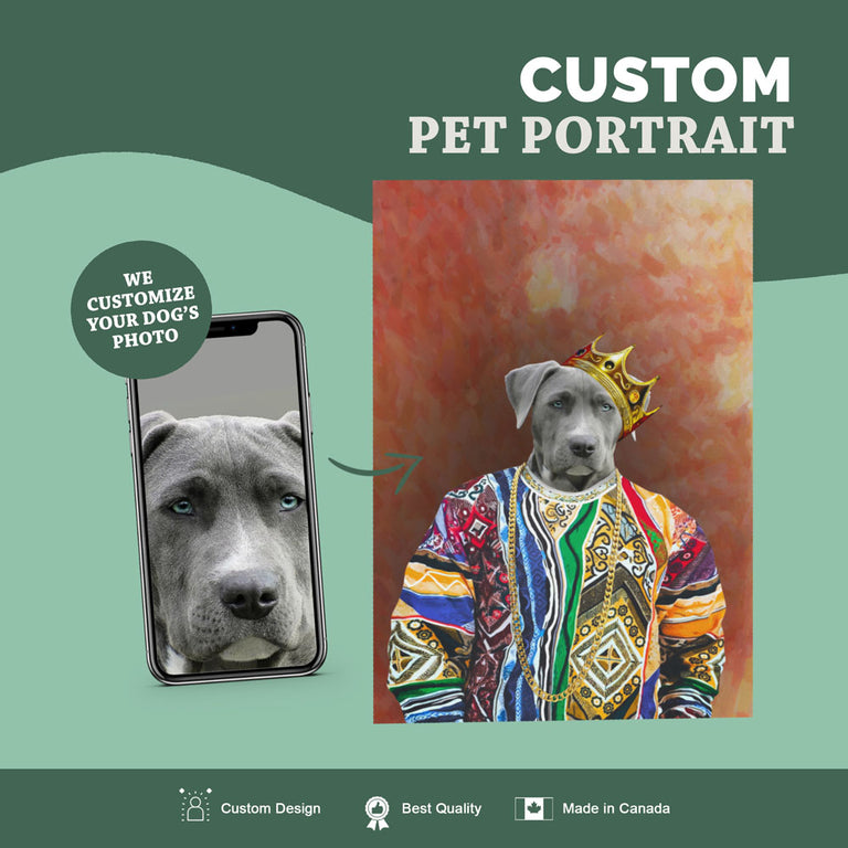 Custom Pet Portrait Canvas - Notorious D.O.G