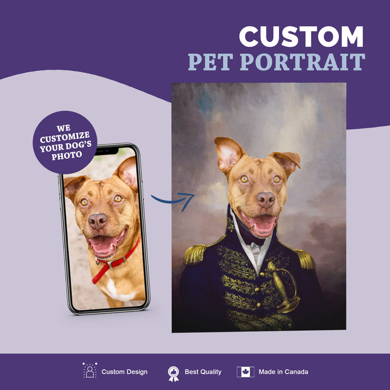 Custom Pet Portrait Canvas - The Admiral
