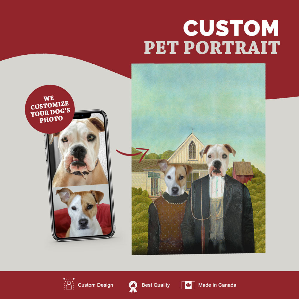 Custom Pet Portrait Canvas - The American