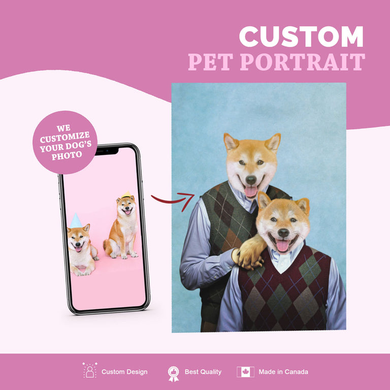 Custom Pet Portrait Canvas - Step Brothers