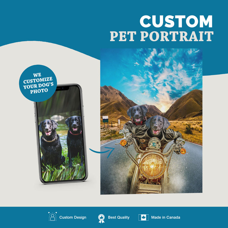 Custom Pet Portrait Canvas - Harley Wooferson