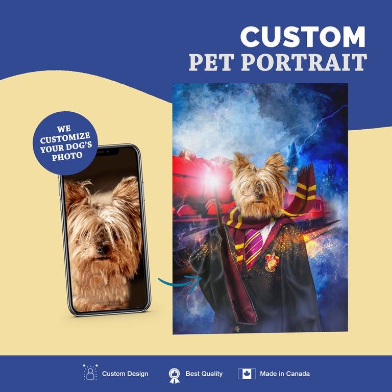 Custom Pet Portrait Canvas - Harry Dogger