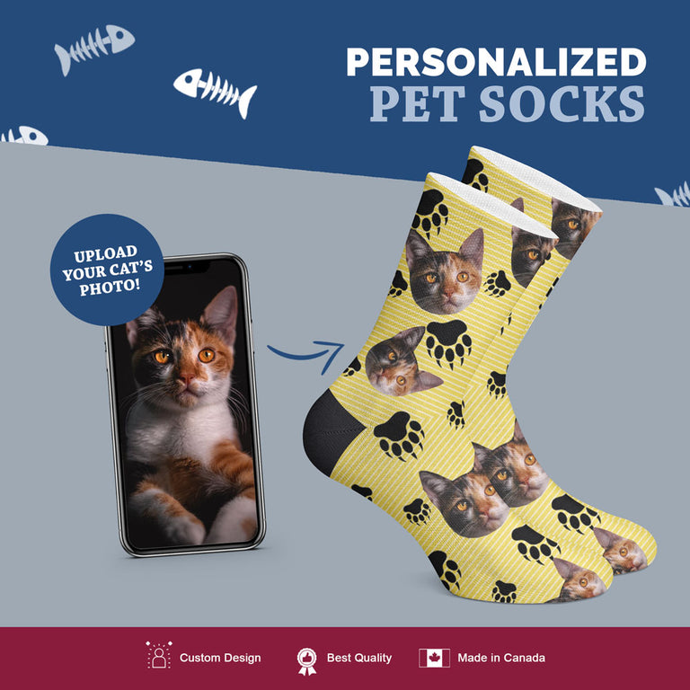 Custom Cat Socks - Striped