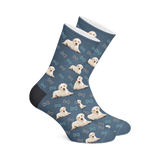 Custom Dog Socks with Bones - Custom Dog Socks - Custom Photo Socks, Personalized Socks, Custom Printed Socks, Picture Socks