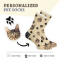 Custom Cat Photo Socks - Custom Pet Socks - Custom Photo Socks, Personalized Socks, Custom Printed Socks, Picture Socks
