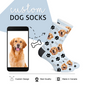 Custom Dog Photo Socks - Custom Dog Socks - Custom Photo Socks, Personalized Socks, Custom Printed Socks, Picture Socks