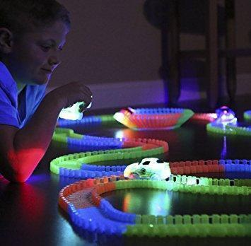 KIDS LOVE THIS!!! Glowing Car Racing Track Set