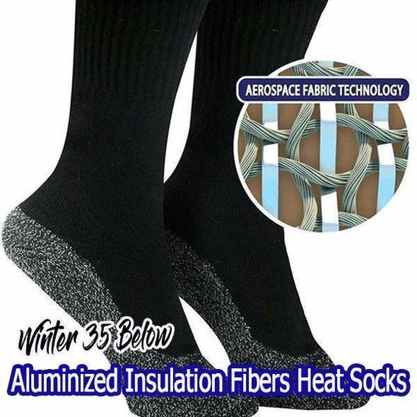 (ONLY $8.9 TODAY!!!)Winter 35 Below Aluminized Insulation Fibers Heat Socks