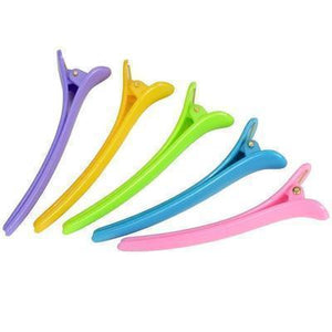 6 pieces of professional multicolor plastic hair clips