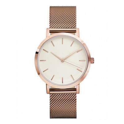 FASHION ROSE GOLD SILVER LUXURY LADIES WATCH