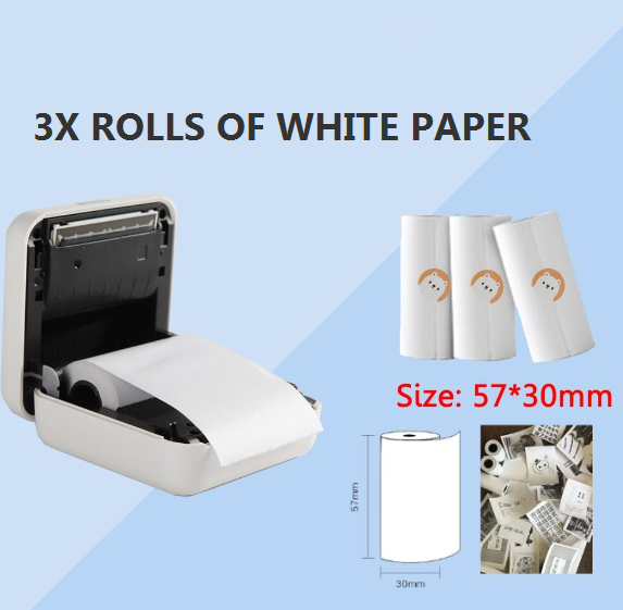PORTABLE INKLESS PRINTER PAPER