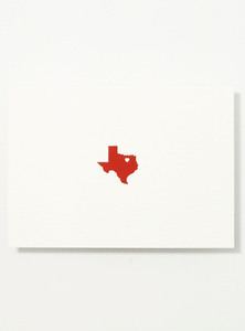 Heart of Texas Letterpress Postcard