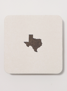 Texas Letterpress Coaster