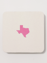 Load image into Gallery viewer, Texas Letterpress Coaster