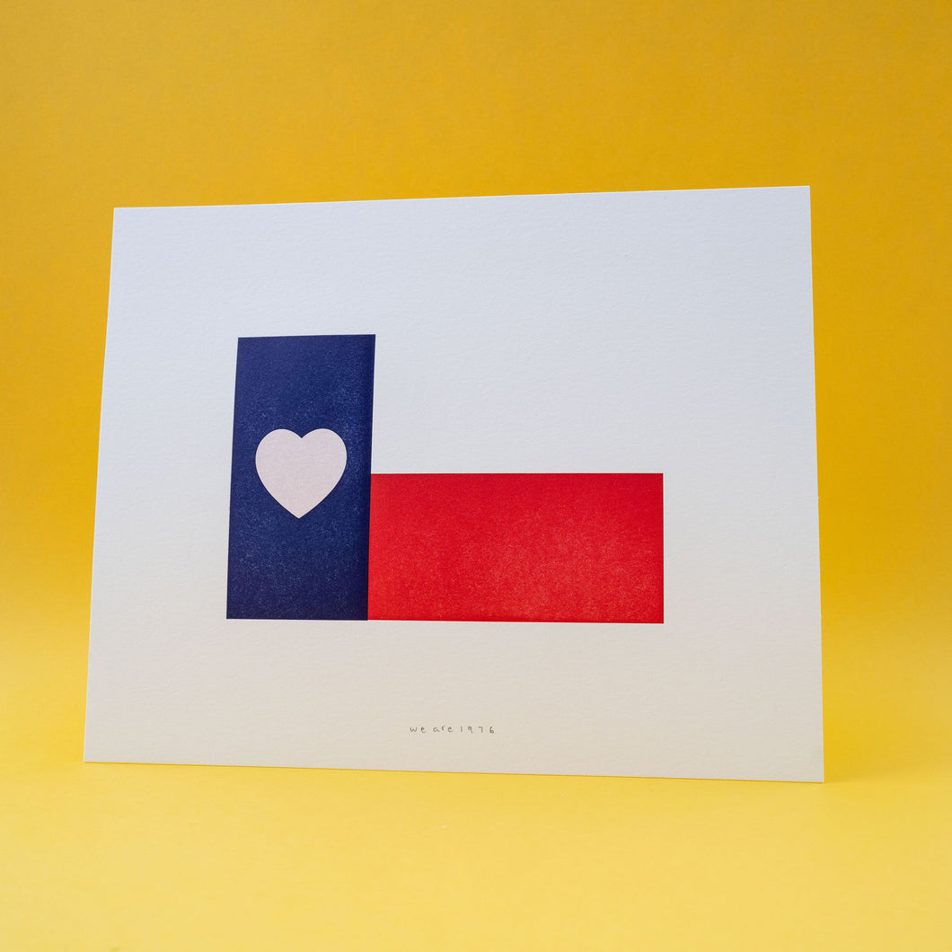 Texas Heart Mini Print